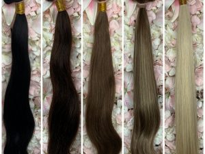AA Remy Human Hair Wefts / Clip-Ins