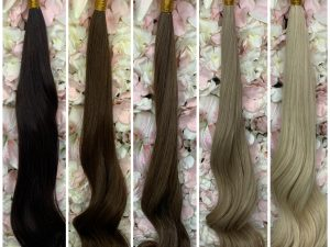 Premium Brazilian Human Hair Wefts / Clip-Ins